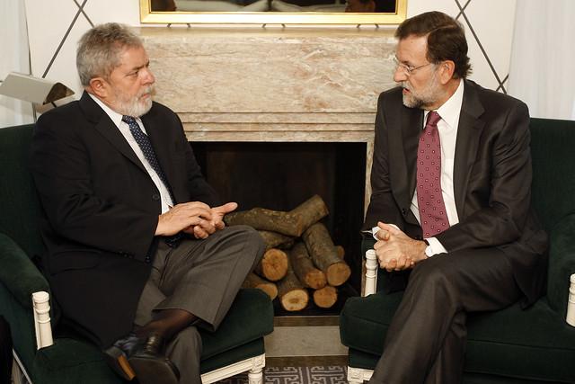 Mariano Rajoy con Luis Ignacio Lula da Silva