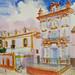 'Church in Sevilla'; Watercolour on paper; 70x52cm