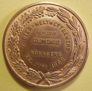GERMANY, NUREMBERG JUNE 22, 1968 ---BREWER'S MEDALLION a