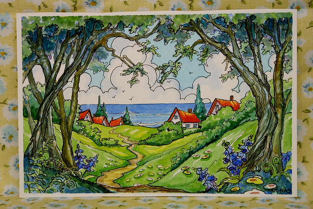 Storybook Cottage Series Peek-a-Boo Cottages by the Sea