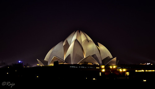 lotus temple at night... | by 2 million+ views. Humbled and thanks!