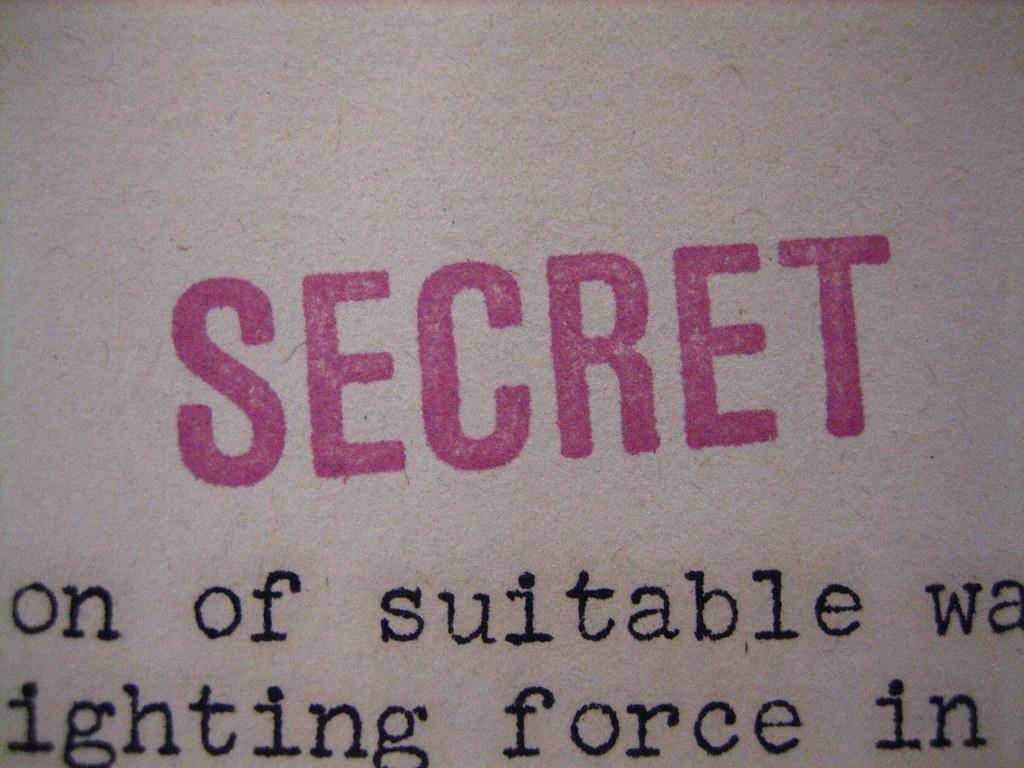 """""""SECRET"""" stamp"""