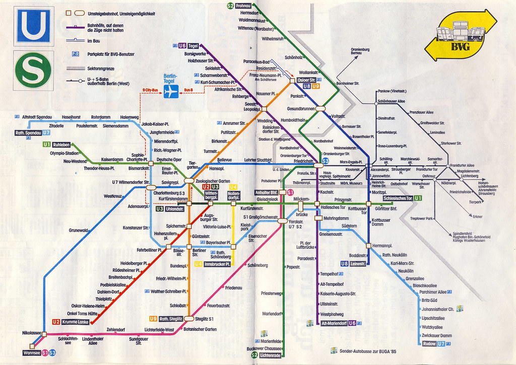 Berlin Train Map Berlin train map from 1985 | paul_3747 | Flickr
