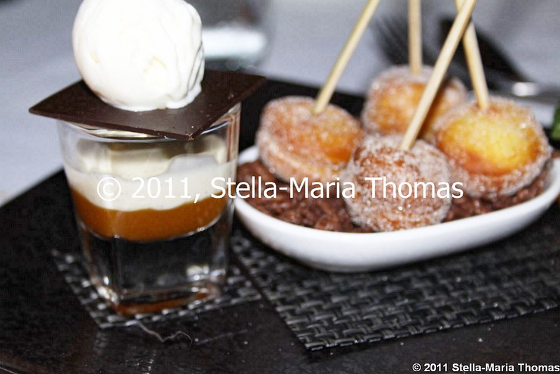 WATERMARK - CRISPY CHOCOLATE BONBON, APRICOT COULIS, MILK ICE CREAM 009