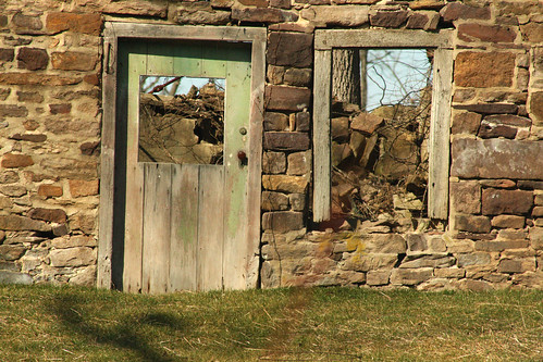 county door old house window stone pennsylvania pa bucks carversville