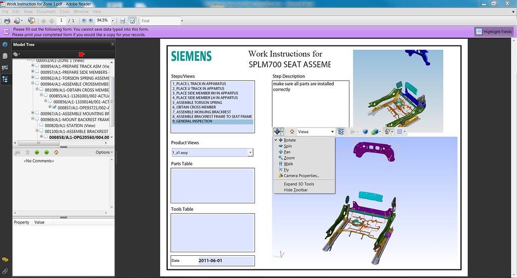 Teamcenter Mfg 3D PDF Documentation | Siemens PLM Software's
