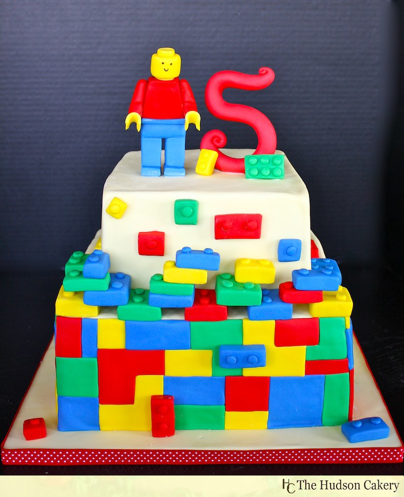 Brilliant Lego Birthday Cake Birthday Cake Featuring This 5 Year Old Flickr Birthday Cards Printable Trancafe Filternl
