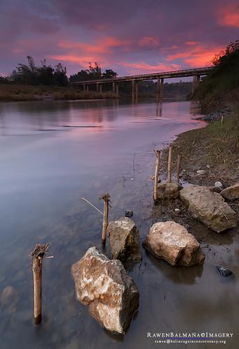 bridge sunset landscape mabiniriver mabinibridge mabinipangasinan