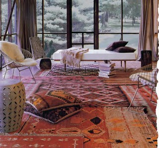 rug layering | by AphroChic