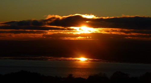 morning autumn sky orange sun clouds sunrise scotland colours rise rosemarkie morayfirth eathie niknok2007