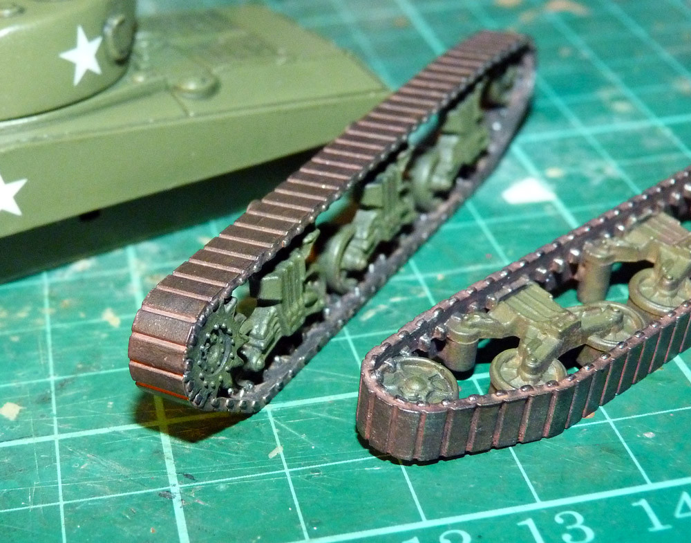 Armourfast M4 Sherman - Track painting | My first attempt at