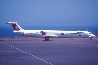 33am - Crossair MD-83; HB-IUM@HER;23.07.1998