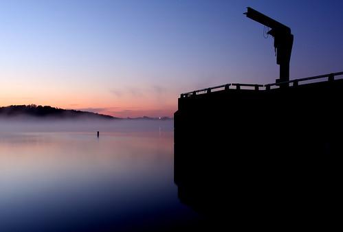 park blue mist lake sunrise dawn dam mo missouri springs works outlet buoy fleming leessummit