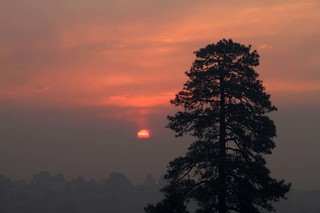 Sunrise over Los Alamos National Labs