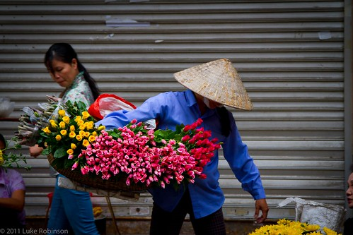 Flower Seller, Old Quarter, Hanoi