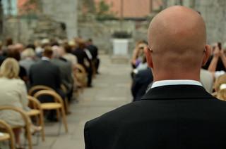 Secret Service agent guarding the entrance | by John Christian Fjellestad