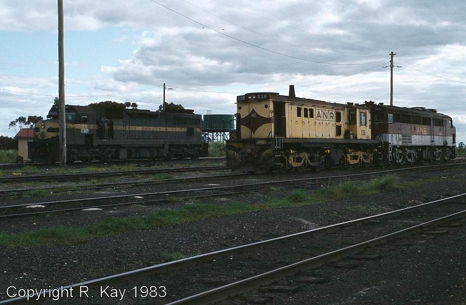 C-507, 838 & 965 in Serviceton yard by Robert Kay