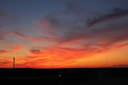 sunset red sky oklahoma clouds sunsets ok washingtoncounty oklahomasunsets