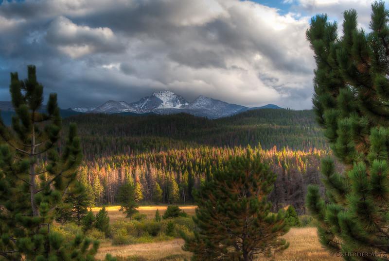 Long's Peak from Hollowell Park Trailhead