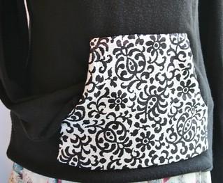 Tweaked Hoodie - After - Covered Pocket | by KitschDesigns