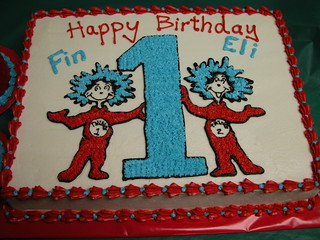 Awe Inspiring Thing 1 Thing 2 Cake Unique Cakes And Cupcakes Place You Flickr Funny Birthday Cards Online Necthendildamsfinfo