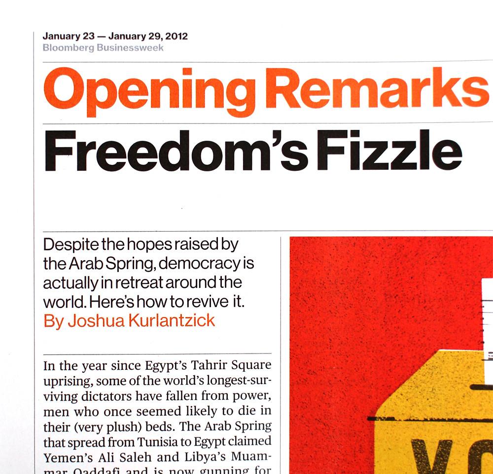 Neue Haas Grotesk on Bloomberg Businessweek Jan 23, 2012