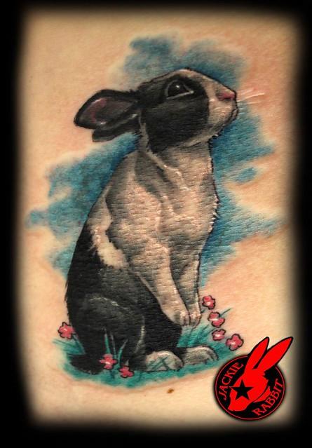 Bunny Rabbit Tattoo by Jackie Rabbit