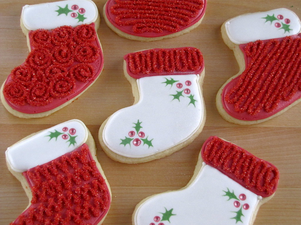 Christmas Stocking Sugar Cookies 2010 Lachelle Flickr