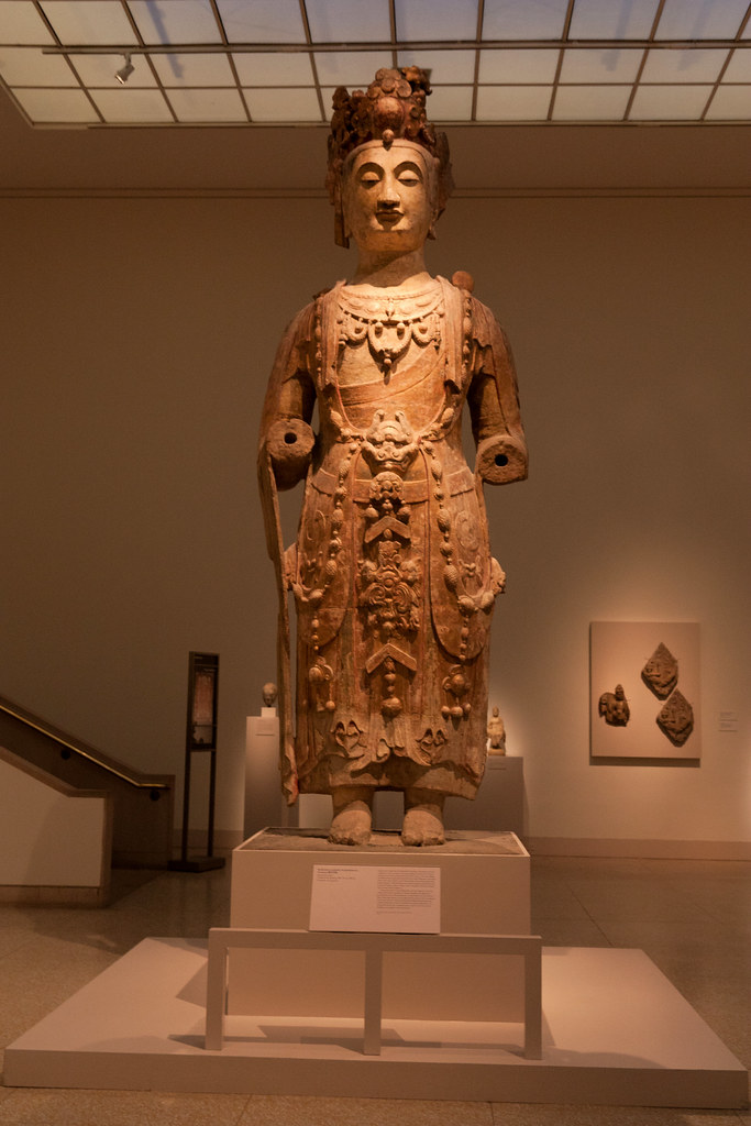 Guanyin; Shanxi province;  Northern Qi dynasty;  sandstone with pigments  The Metropolitan Museum allows photo shooting providing there is no financial gain.  Please respect their policy