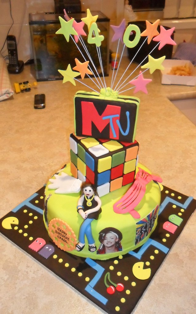 Superb 80S Theme Birthday Cake Chocolate Mud Cake Filled With Ch Flickr Funny Birthday Cards Online Barepcheapnameinfo