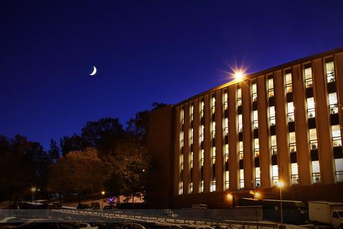 blue moon night library crescent institute gordon mass wpi worcester polytechnic atran atranphotography atranphoto
