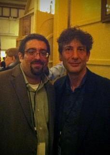 Yours truly & Mr. Gaiman | by morrowplanet
