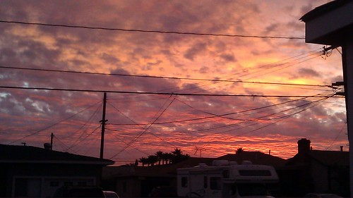 california morning orange sunrise unitedstates january telephonelines northamerica lawndale lacounty 2011 mytouch4g