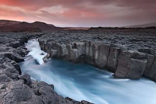 Cold River - Húsafell in Borgafjörður, Iceland | by orvaratli