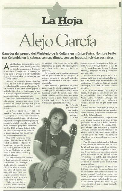 Periódico La Hoja Medellín Marzo 2006