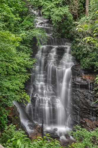 longexposure nature waterfall nikon northcarolina cascades cherokee hdr photomatix tonemapped cherokeenation nikond90 diamondclassphotographer flickrdiamond socofalls