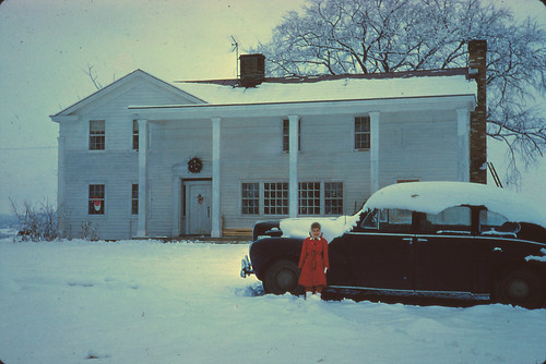 Winter at The Farm, Grooms Corners, NY with my sister, Marji, maybe 1955 or 1956. | by jhhymas