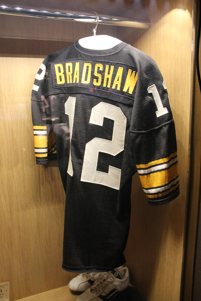 official photos ef04f 768cb Terry Bradshaw's Jersey   Jersey of former Pittsburgh Steele ...