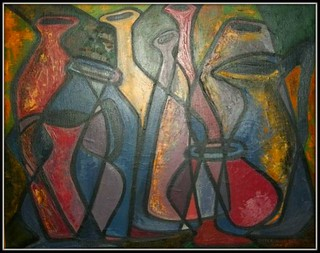 Bottles-Picasso influence | by Nun Artist