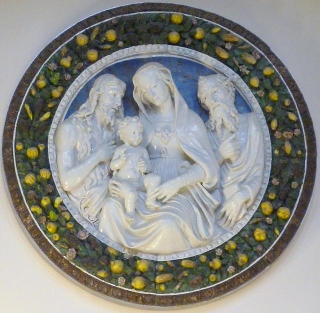 della Robbia - The holy family & Saint John Baptist
