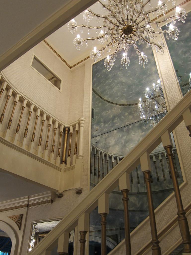 Main Stairwell, Chandelier And Second Floor Landing, Grace ...