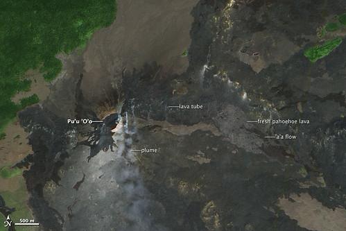 flow volcano hawaii lava nasa ali kilauea eo1