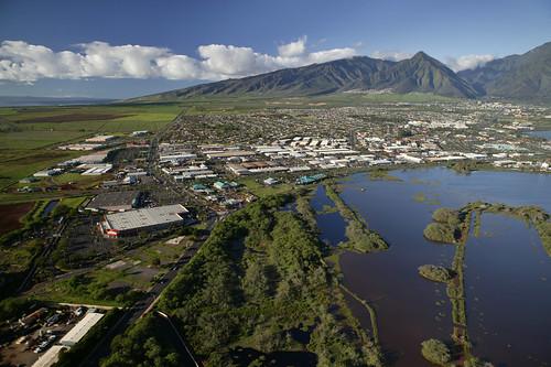 city travel sky mountains green landscape island hawaii bay coast cityscape scenic maui panoramic vista coastline panarama kahului