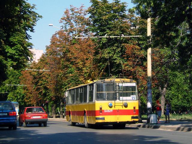 Тролейбус ЗиУ 682 №54529 Русе 2008 г. ZiU 682 Trolleybus Nr. 54529 Ruse Bulgaria