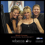 Soul Photographer%u2122 Rebecca Dru, Spiritual Alchemist%u2122 Misti Cooper with Living Unfiltered's Wendi Cooper and Producer Tony Sweet on UBN Radio at Sunset Gower Studios in Hollywood, California