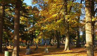 Autumn In Pine Grove Cemetery