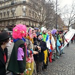 Sat, 12/12/2015 - 12:36pm - French clowns Paris climate change March