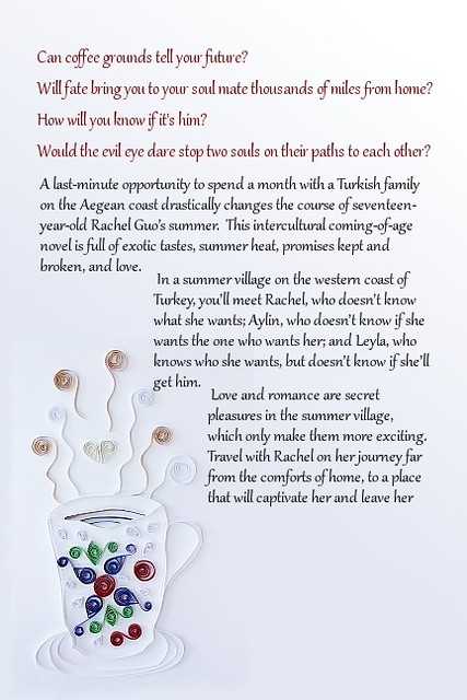 Quilled book back cover