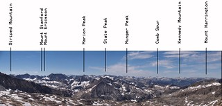 0808 Thunderbolt Pass annotated panorama looking south over Palisade Basin | by _JFR_