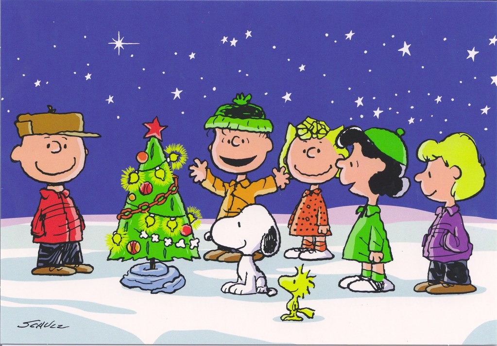 Snoopy Merry Christmas Images.Charlie Brown Snoopy Gang Merry Christmas Mailbox Happiness